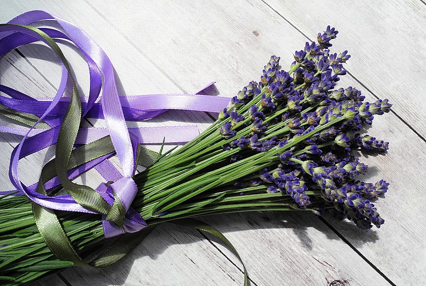 Lavender Bundle w ribbon